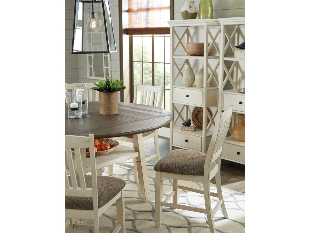 signature design ashley bolanburg relaxed vintage piece square products color avenue six chair and accent table set round drop leaf counter unfinished furniture small tall coffee