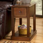 signature design ashley breegin brown moulded hamlyn chairside products color end accent table extendable glass target entry black with lamp attached large antique wall clock 150x150