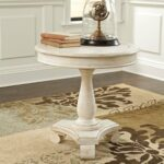 signature design ashley cottage accents white round accent table tables living room bedside lamps rocker recliner chair end storage furniture cabinets pier one vanity wrought iron 150x150