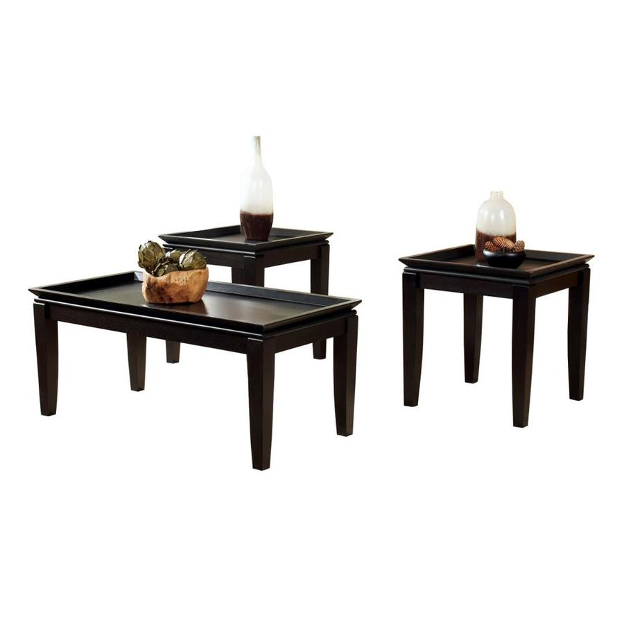 signature design ashley delormy piece almost black accent table set drop leaf dining and chairs glass end side garden furniture ikea outdoor shelf fall tablecloth transition