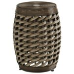 signature design ashley elgielyn faux rattan indoor products color outdoor woven metal accent table threshold elgielynstool quilted runner country farm target furniture tables 150x150