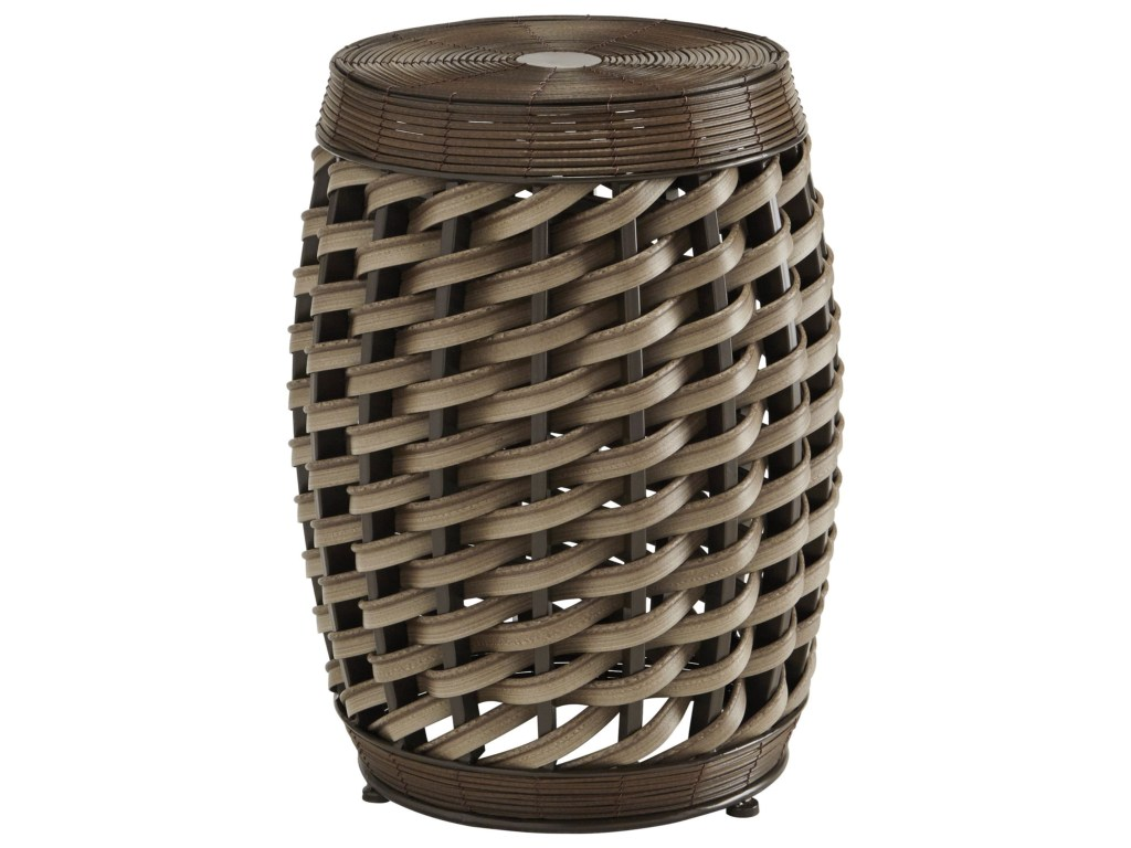 signature design ashley elgielyn faux rattan indoor products color outdoor woven metal accent table threshold elgielynstool quilted runner country farm target furniture tables