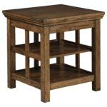 signature design ashley flynnter transitional square end products color chestnut accent table flynntersquare venice furniture armless chair home goods tables pottery barn wood 150x150