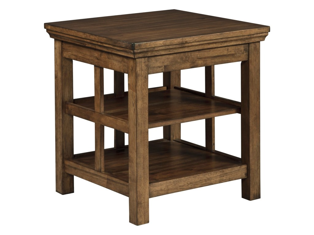 signature design ashley flynnter transitional square end products color chestnut accent table flynntersquare venice furniture armless chair home goods tables pottery barn wood