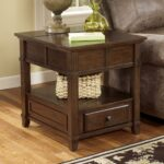 signature design ashley gately end table with hidden products color accent rectangular diy granite countertops classy lamps ikea living room chairs espresso finish pottery barn 150x150