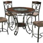 signature design ashley glambrey round counter table and products color dining room accent furniture barstool set moroccan patio coffee with umbrella hole folding for small space 150x150