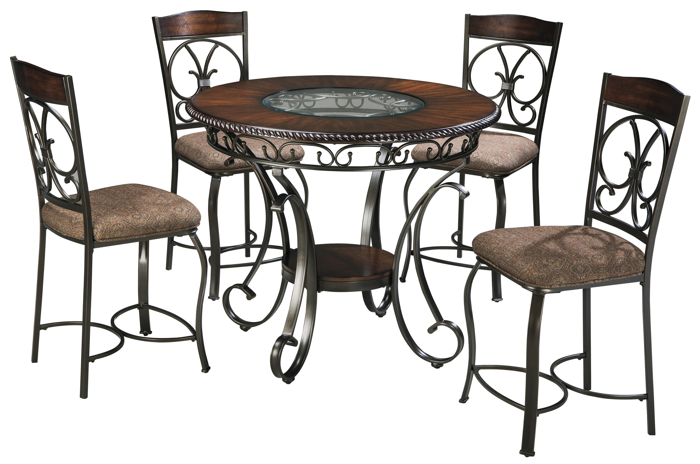 signature design ashley glambrey round counter table and products color dining room accent furniture barstool set moroccan patio coffee with umbrella hole folding for small space