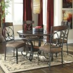 signature design ashley glambrey round dining table and chair products color room accent furniture glambreyround set brass hairpin legs extendable battery house lights the 150x150