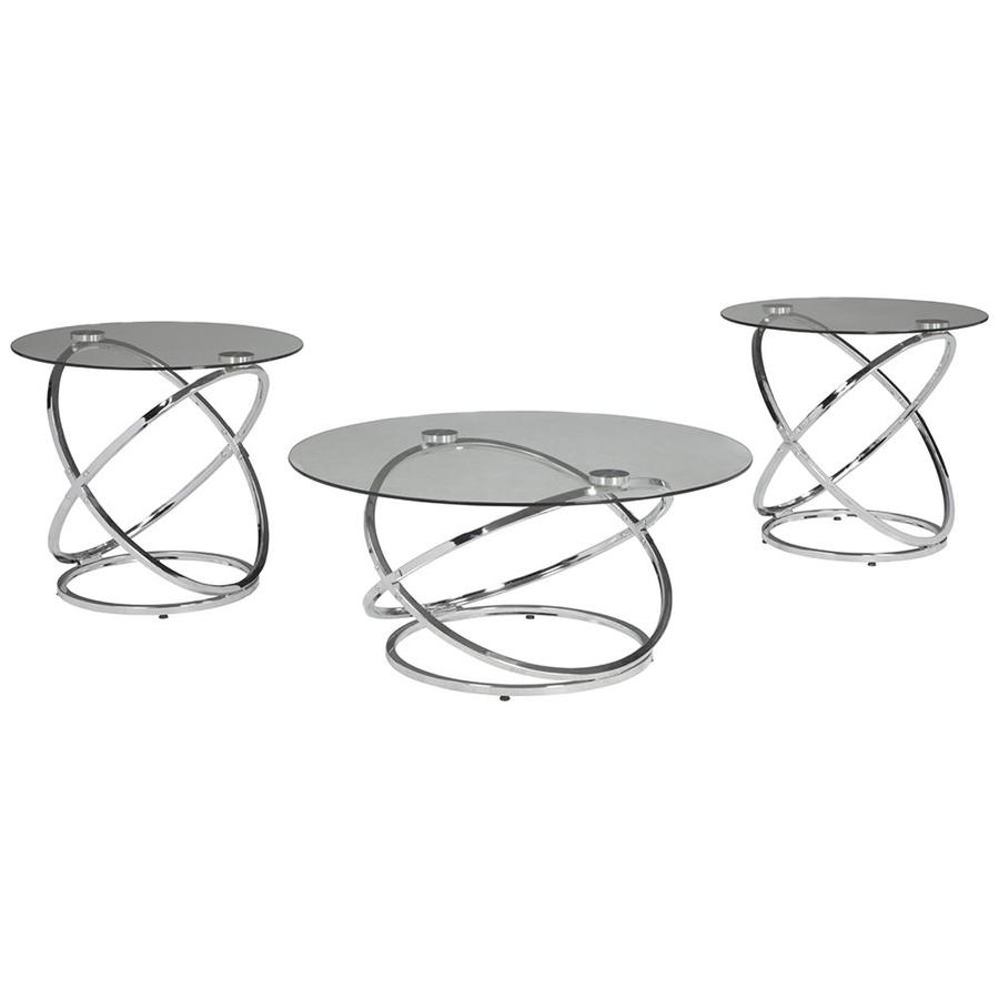 signature design ashley hollynyx piece clear tempered glass metal accent table set pier one small tables long narrow behind couch west elm floor pillow elephant coffee top cherry