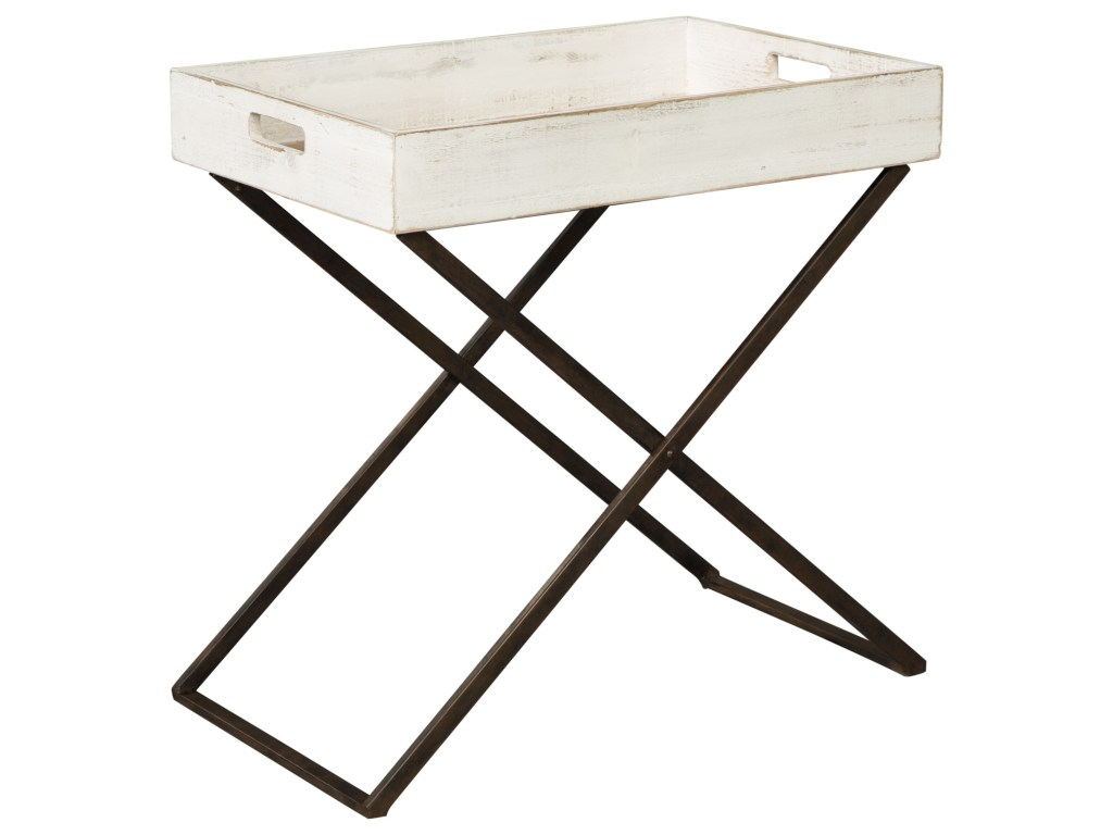signature design ashley janfield tray style accent table products color janfieldaccent reclaimed wood conference ikea bedside drawers world market lamps acrylic side smoked glass