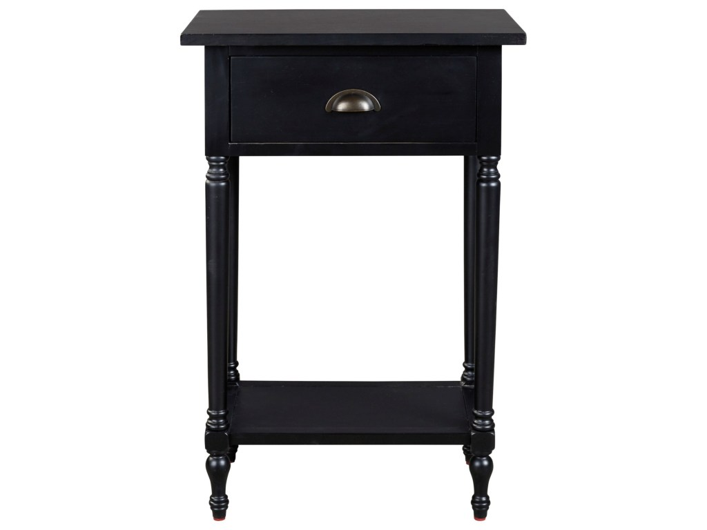 signature design ashley juinville tall accent table with products color black drawer shelf beck furniture end tables small round coffee drawers affordable bedside couches under