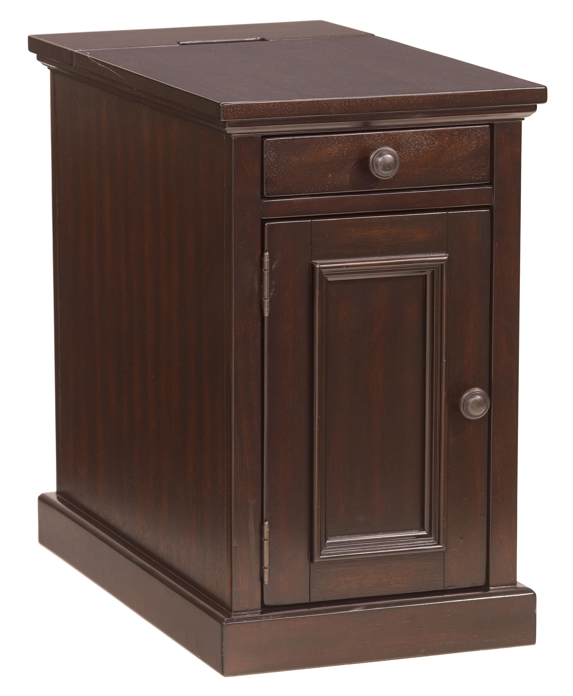 signature design ashley laflorn chairside end table with power products color tables accent usb battery operated lights lamps narrow cabinet dale tiffany dragonfly lamp room and