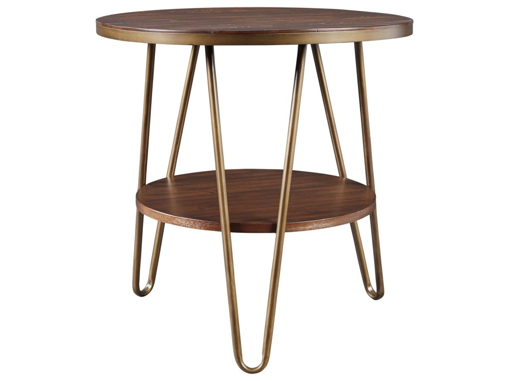 signature design ashley lettori contemporary round end table with products color hairpin leg accent lettoriround pub dining set vintage nautical lights metal tables storage