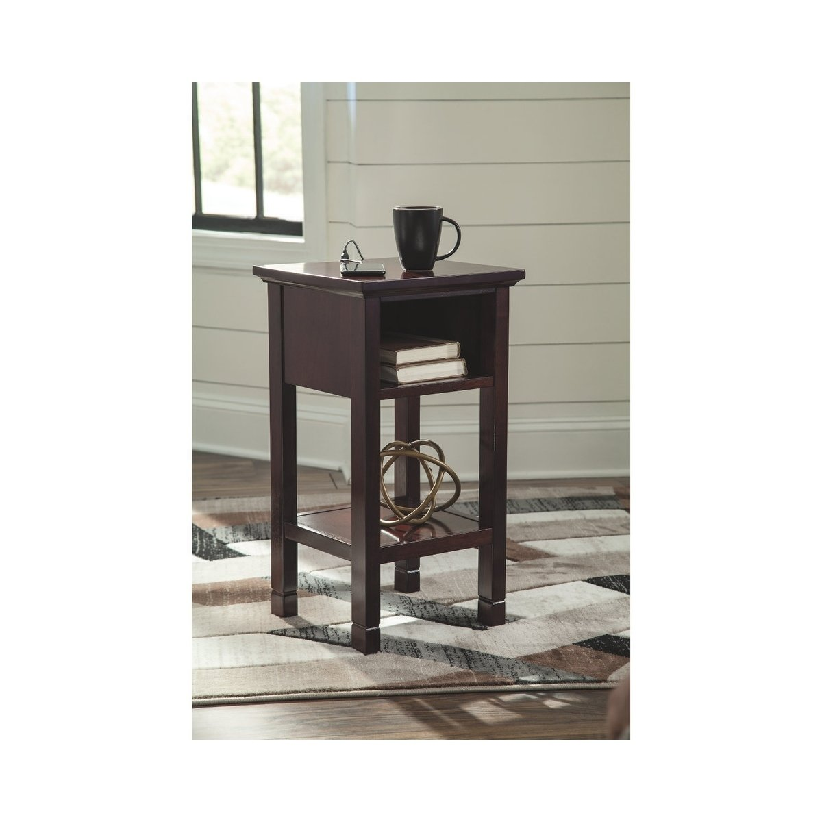 signature design ashley marnville reddish brown accent table clearance tables free shipping today height and chairs outdoor dining sets black marble coffee set unusual home decor