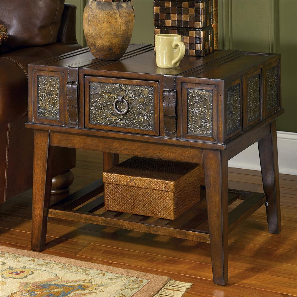 signature design ashley mckenna rectangular end table value products millenium color accent item number small bedside with drawers bronze and glass side classy lamps door chest