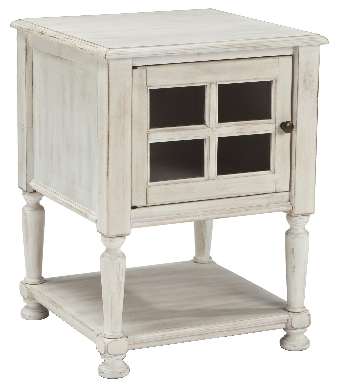 signature design ashley mirimyn chair side end table with window products color cottage accents accent doors black leather dining room chairs wood and metal round moroccan mosaic