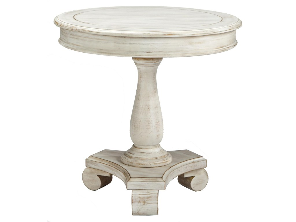 signature design ashley mirimyn round accent table with products color cottage accents wood turned pedestal base beck furniture end tables classic modern chairs white storage