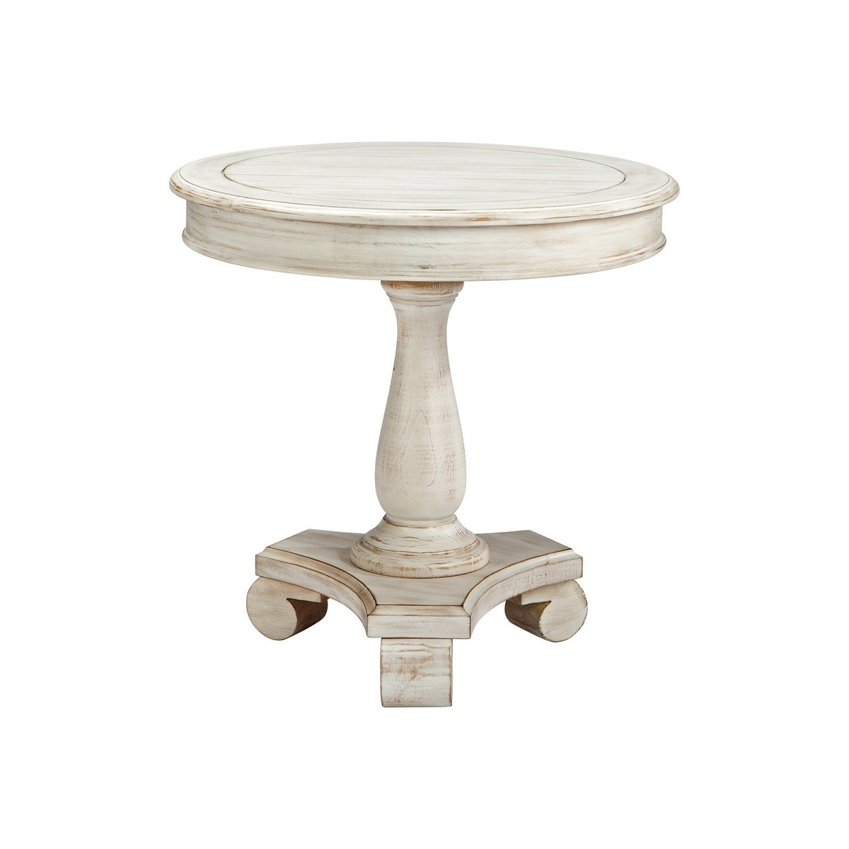 signature design ashley mirimyn white round accent table pedestal wood free shipping today pottery barn bookcase tablecloth for side tables toronto coffee and patio furniture with