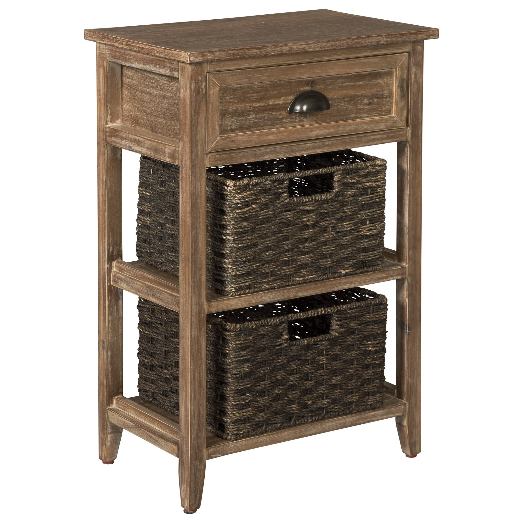 signature design ashley oslember accent table with woven products color basket drawers telephone side home goods bedside tables black outdoor furniture marble end set target