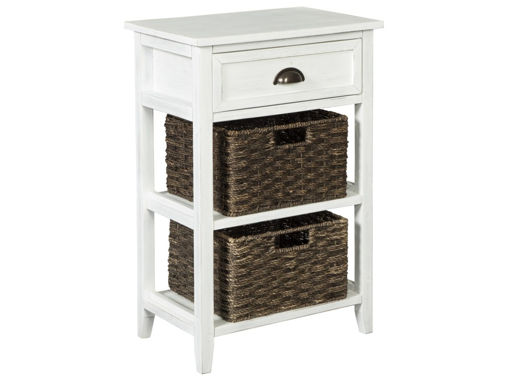 signature design ashley oslember accent table with woven products color baskets oslemberaccent tier antique barn style doors narrow depth console outdoor side brown hall drawers