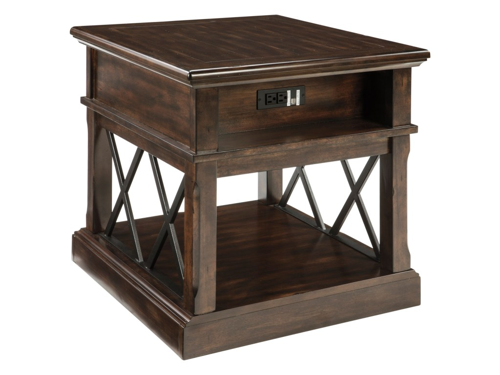 signature design ashley roddinton rectangular end table with usb products color accent roddintonrectangular entry baskets vintage coffee marble dining room hooker small nightstand