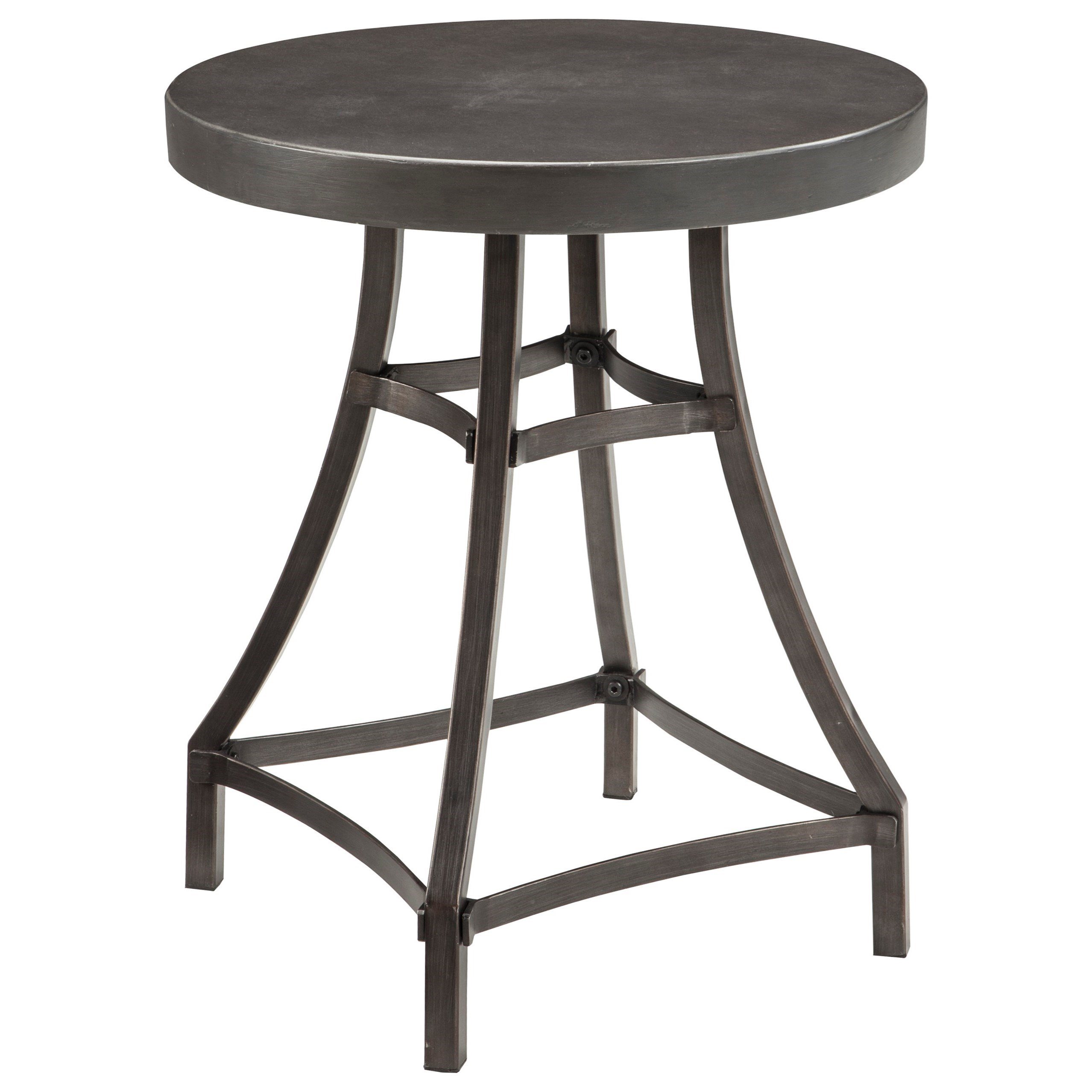 signature design ashley starmore round end table iron mirimyn accent tables tall glass coffee small side west elm console target furniture mirror circular front porch and chairs