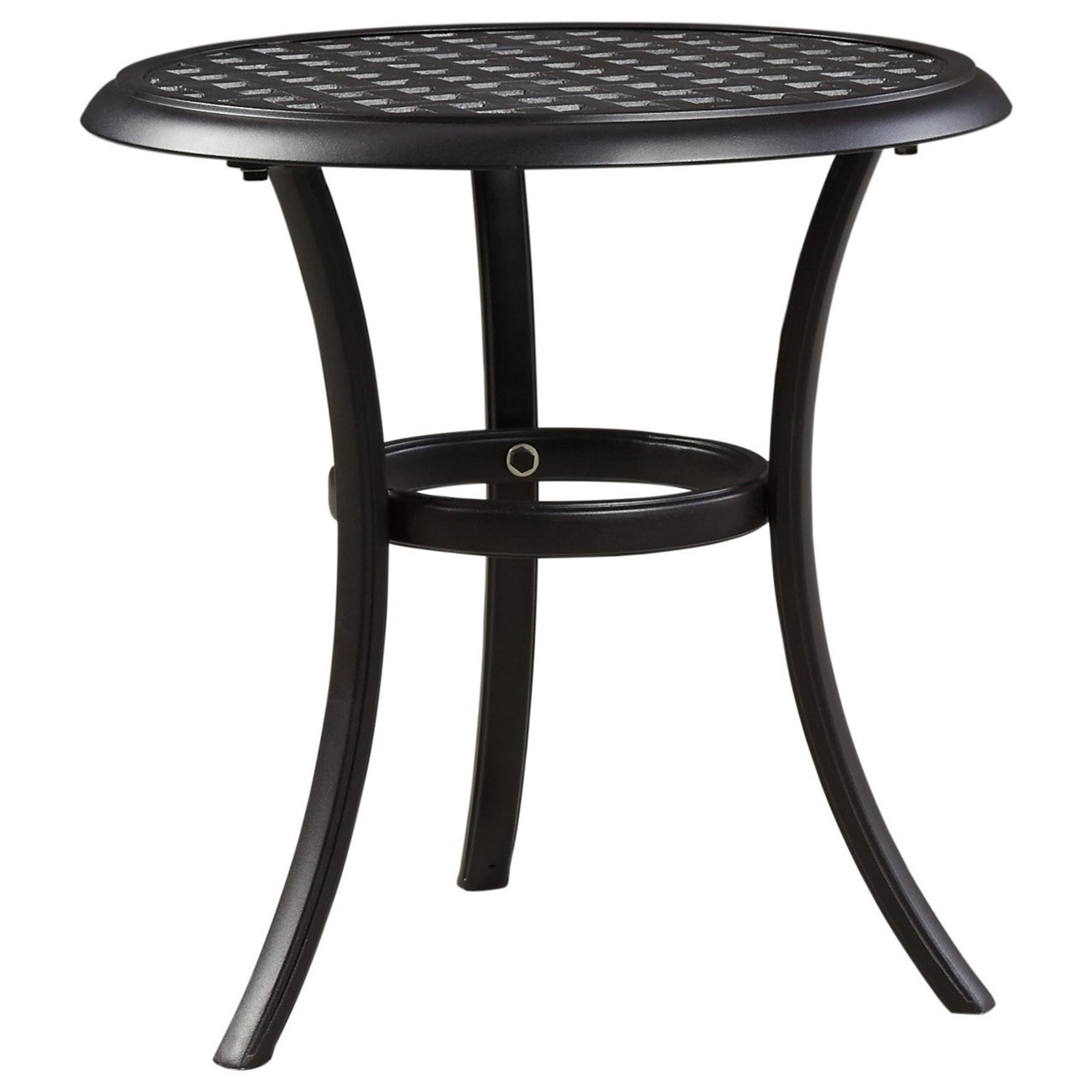 signature design ashley tanglevale outdoor round end contemporary wicker accent table target tables triangle ikea nesting coffee modern furniture grey nightstand metal dining room