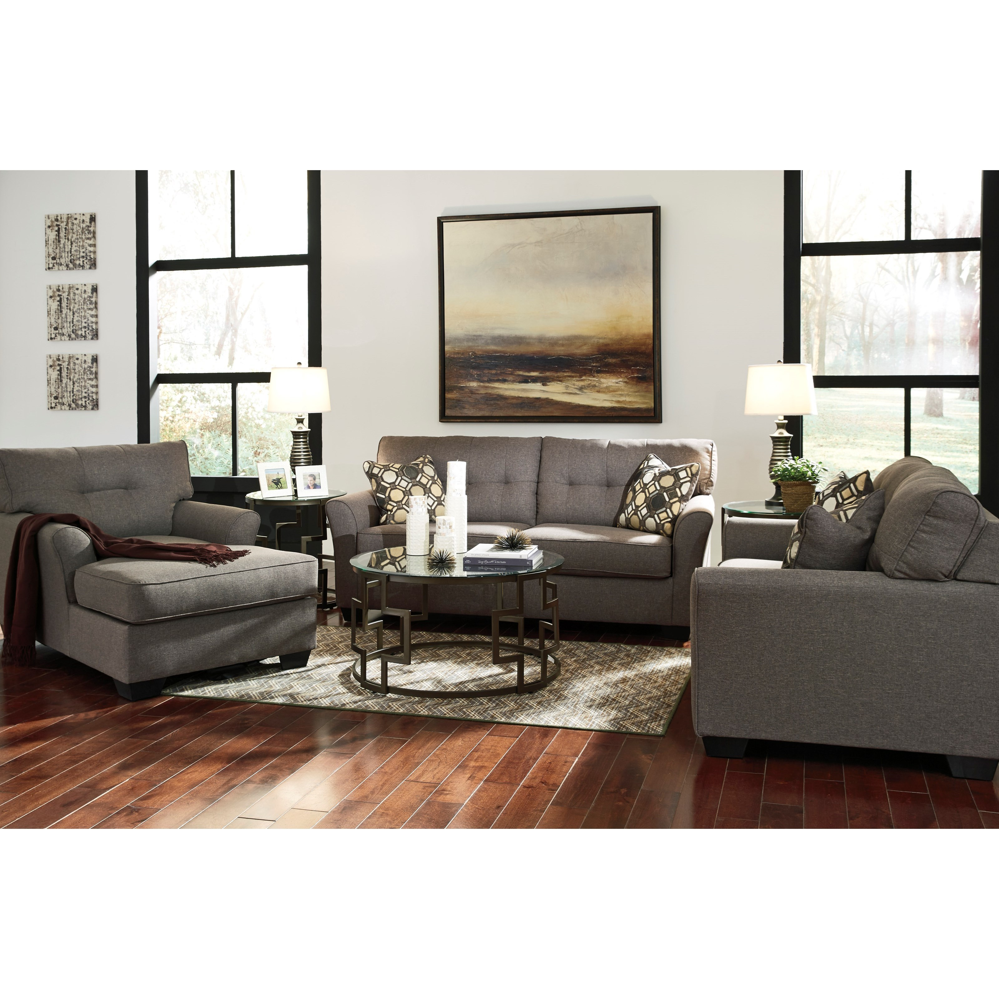 signature design ashley tibbee stationary living room group products color piece accent chair and table set furniture end tables with storage pier one sofa quilted fall runners