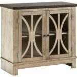 signature design ashley vennilux two tone door accent cabinet products color rustic accents table with doors venniluxdoor black iron dining napkins battery powered lamp target 150x150