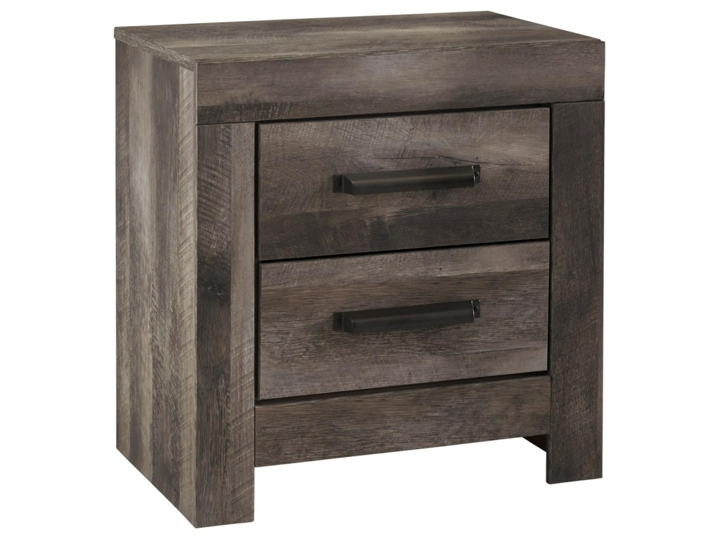 signature design ashley wynnlow drawer night stand with usb products color accent table oval acrylic coffee narrow corner industrial storage side hooker dining linen company