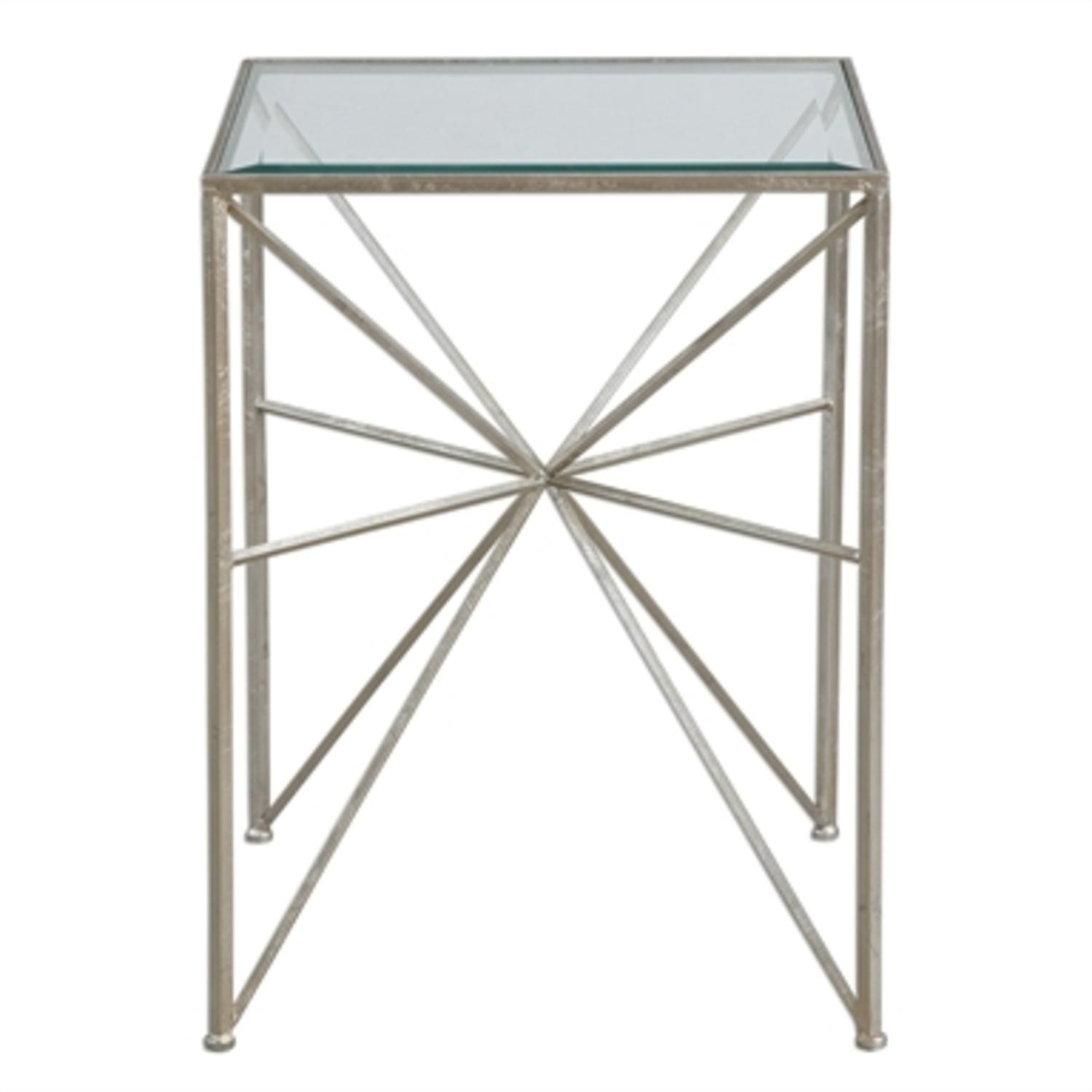 silvana large antique silver iron midpoint and glass tall accent side table free shipping today contemporary coffee tables end hampton bay patio furniture cushions small outdoor