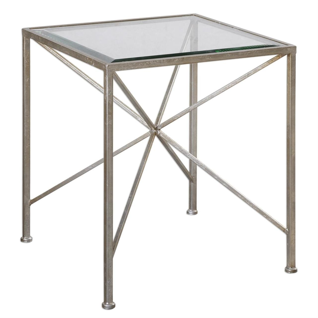 silvana small antique silver iron midpoint glass cube accent side table and round brass hanging barn doors mirrored coffee very tablecloth for inch west elm mid century dining