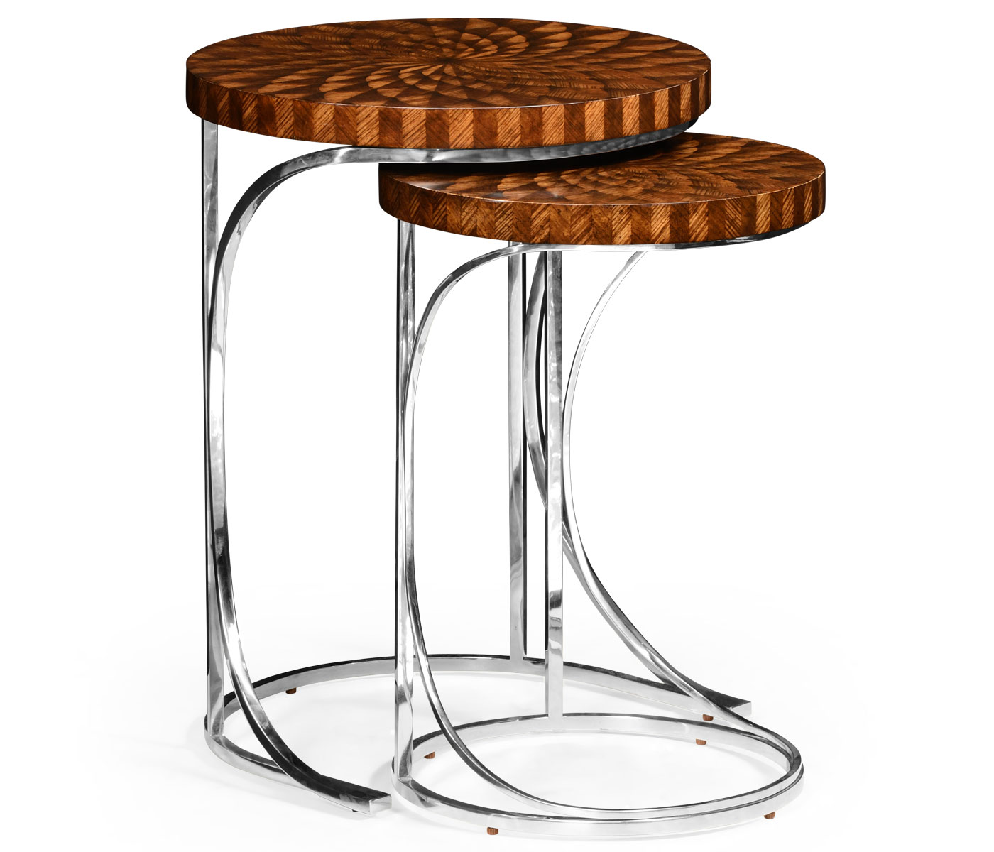 silver drum side table the fantastic nice inlaid wood end tables nesting zebrano zebra limited production design tall marquetry hospitality residential interior designer available