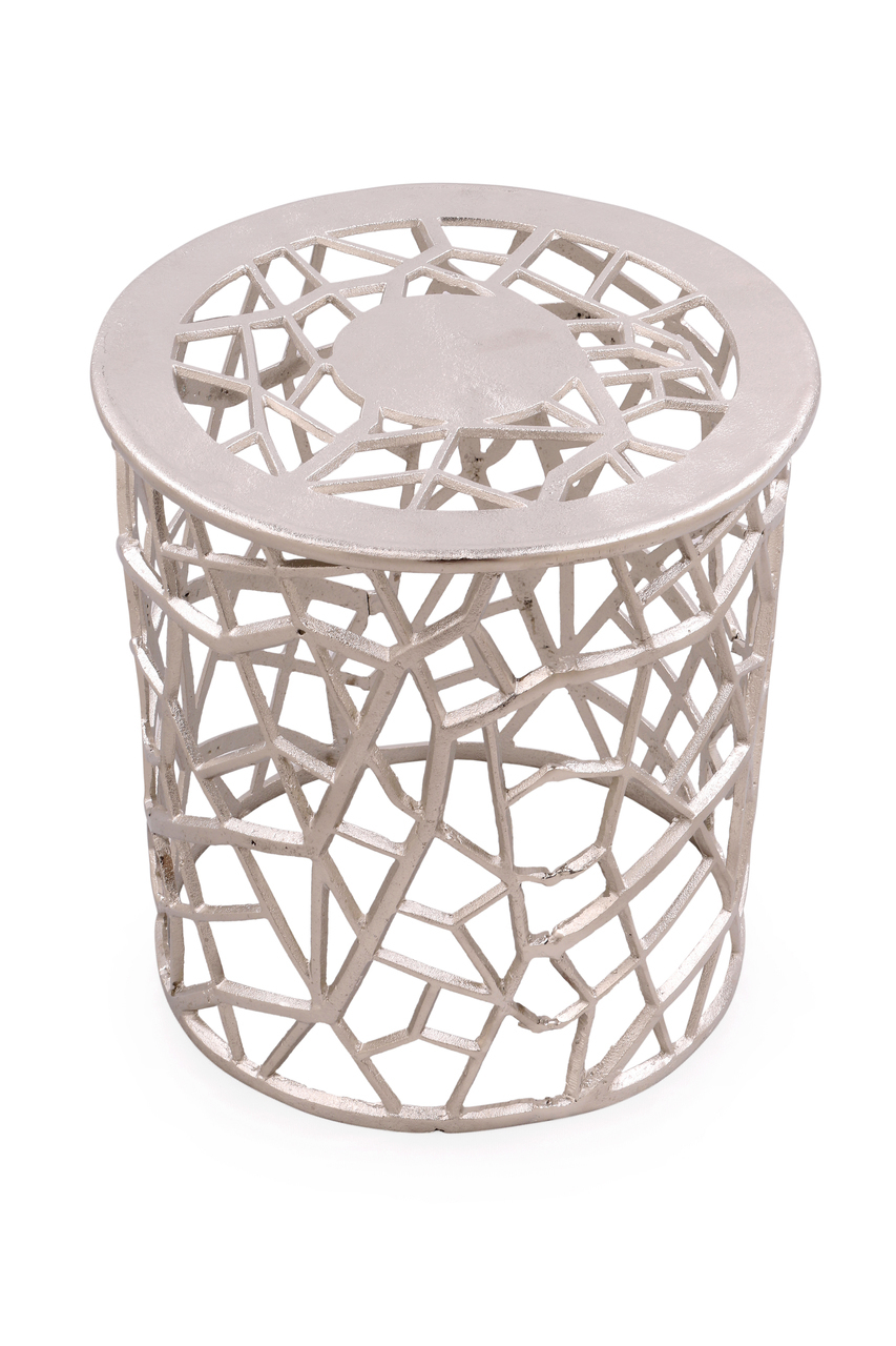 silver filigree metal table jewel accent round low living room black glass dining tilt umbrella with stand bedroom side tables essentials white interior door threshold nautical