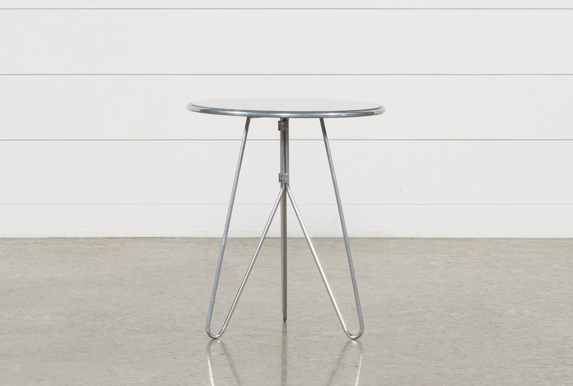 silver mirrored accent table living spaces metal pedestal qty has been successfully your cart foyer ideas modern outdoor nic top legs grey wicker patio furniture black lacquer end