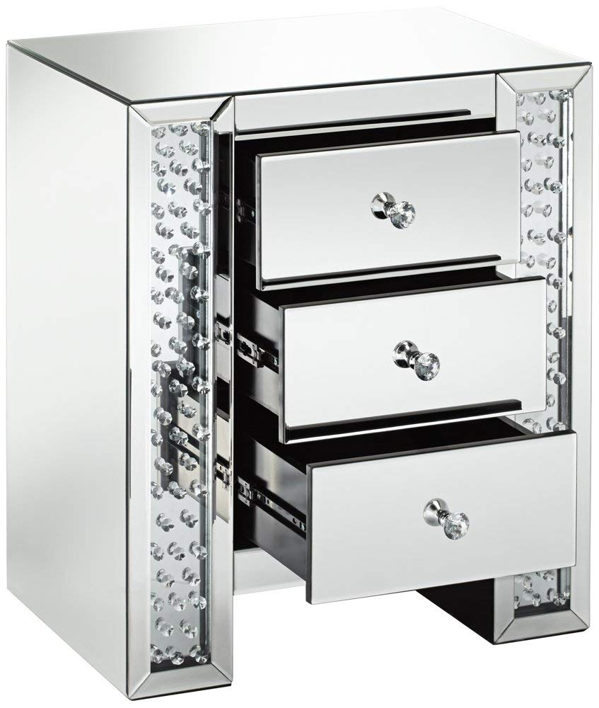 silver mirrored crystals drawer accent table gadgets three each interior wide deep high contemporary from studio finish over mdf corner computer desk with hutch screen porch