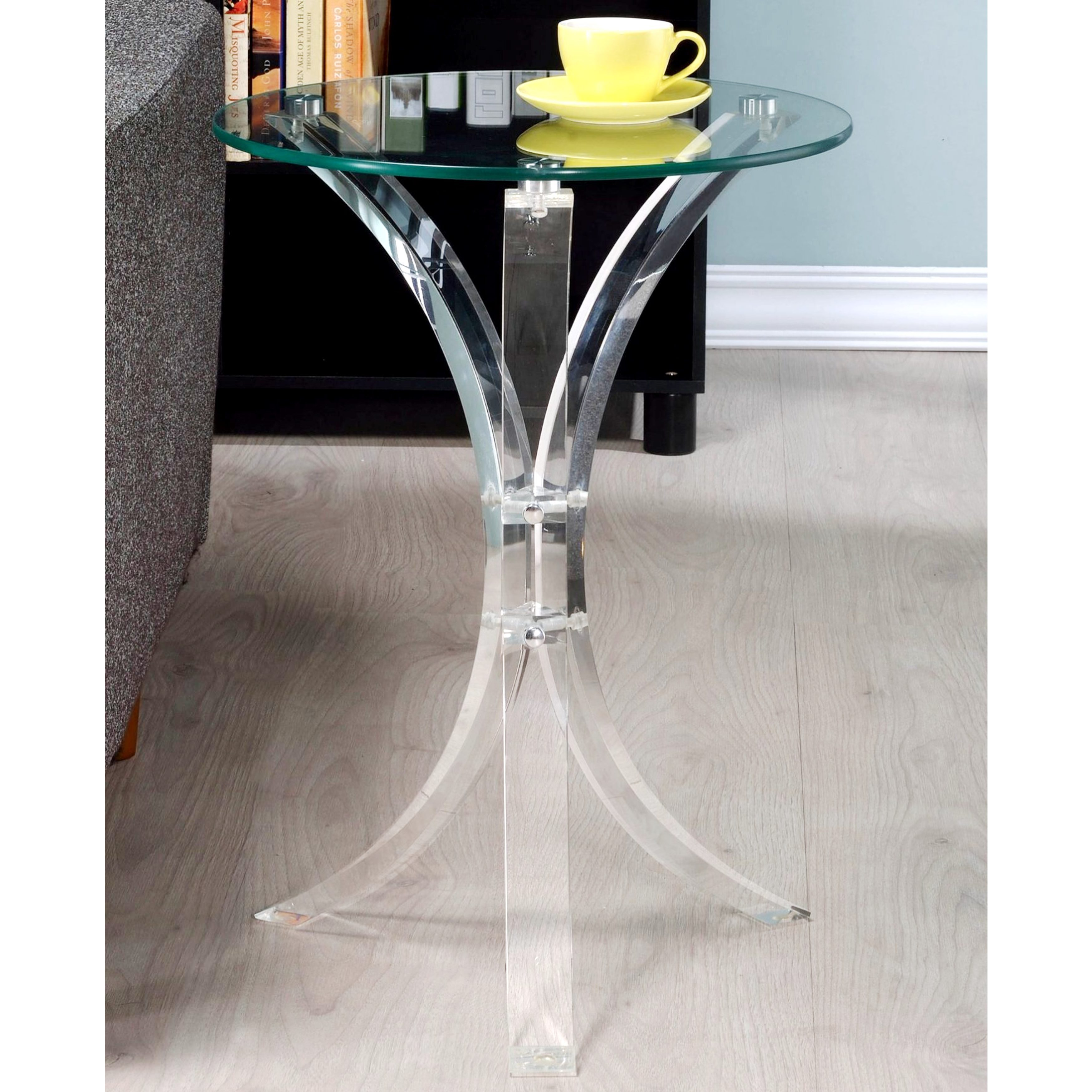 silver orchid berangere modern design curved base accent table with glass top free shipping today lamps for bedroom pier floor country tablecloths diy counter height console end
