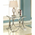 silver orchid brockwell modern chrome end table antique gold faceted accent with glass top free shipping today side cloth small corner desk outdoor fireplace white piece coffee 150x150