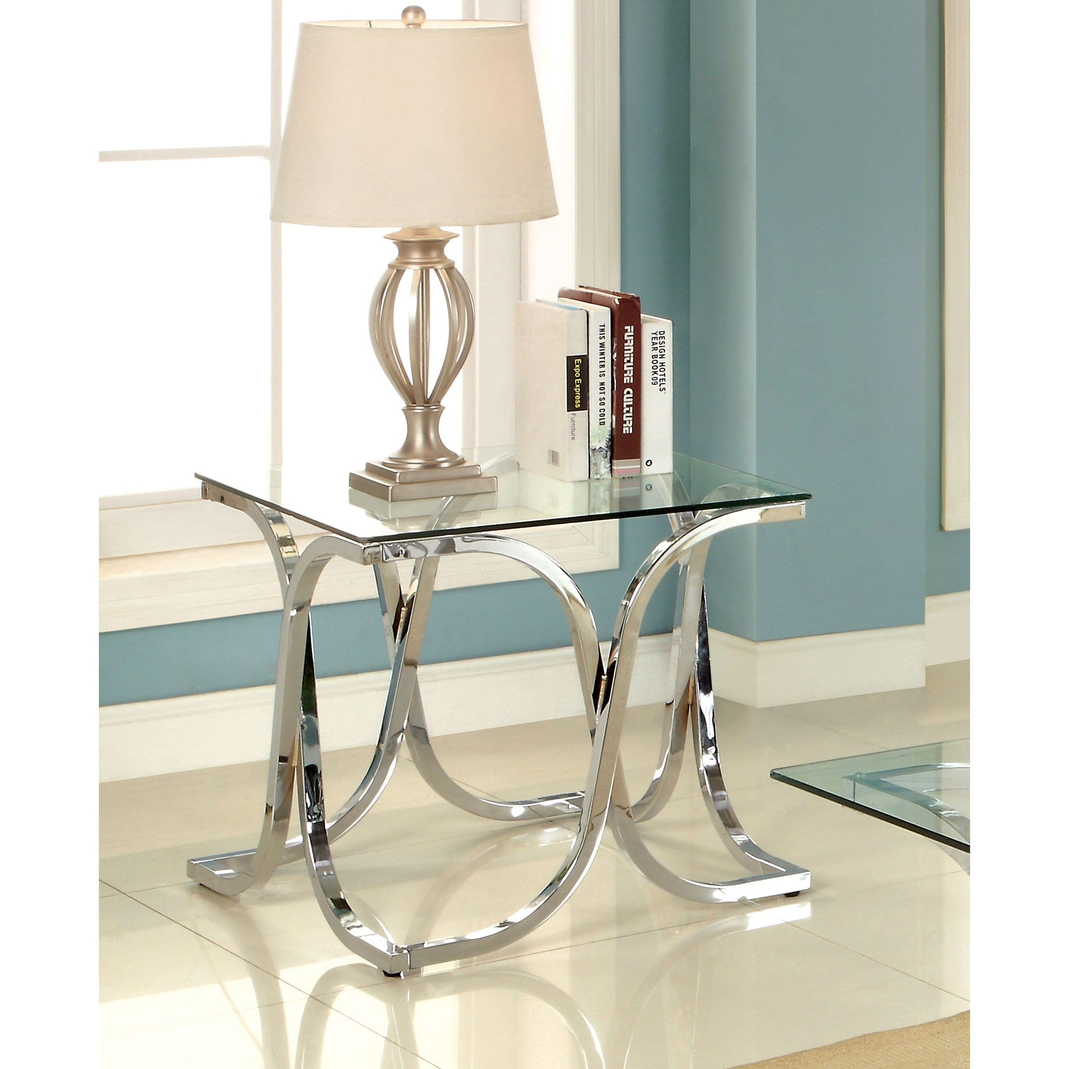 silver orchid brockwell modern chrome end table antique gold faceted accent with glass top free shipping today side cloth small corner desk outdoor fireplace white piece coffee
