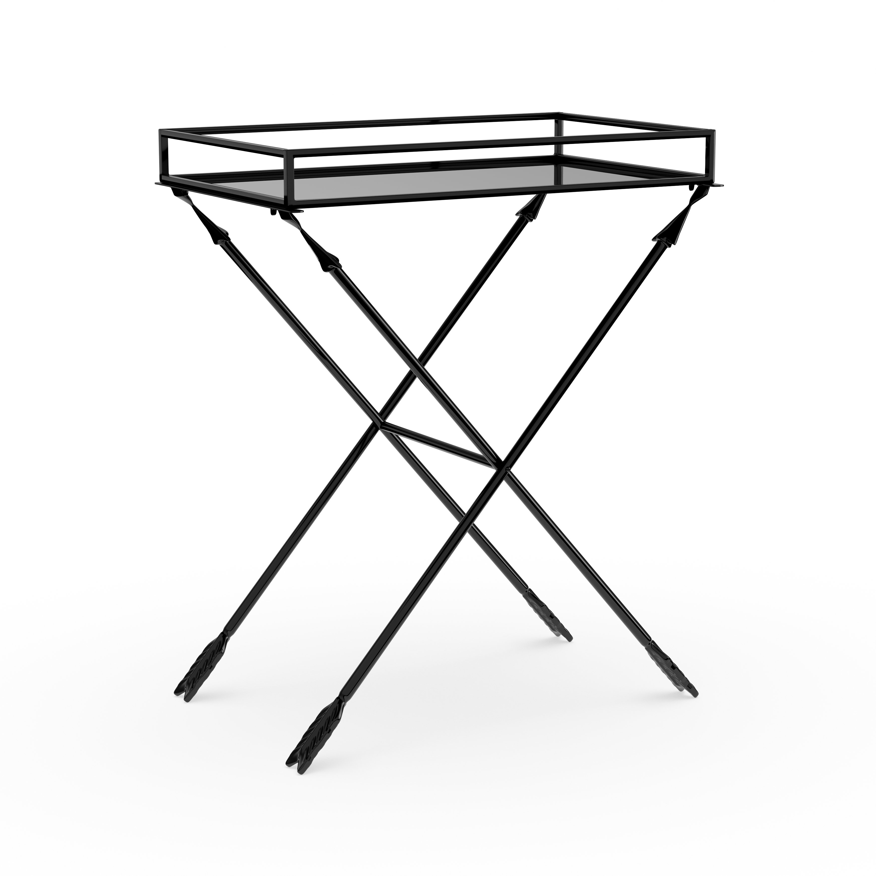 silver orchid jalabert arrow metal accent table with mirrored tray top free shipping today round coffee sets ikea bedroom cabinets pier coupon code small side covers lamp lighted