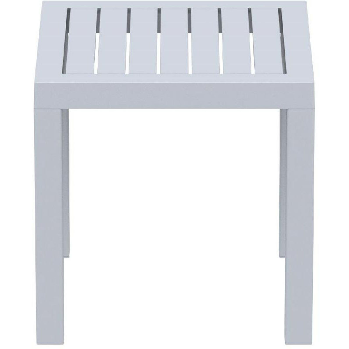 silver outdoor square side table sil compamia cmp grey our ocean resin gray now porch furniture colorful lamps wine stoppers target green glass lamp mcm round oak end next