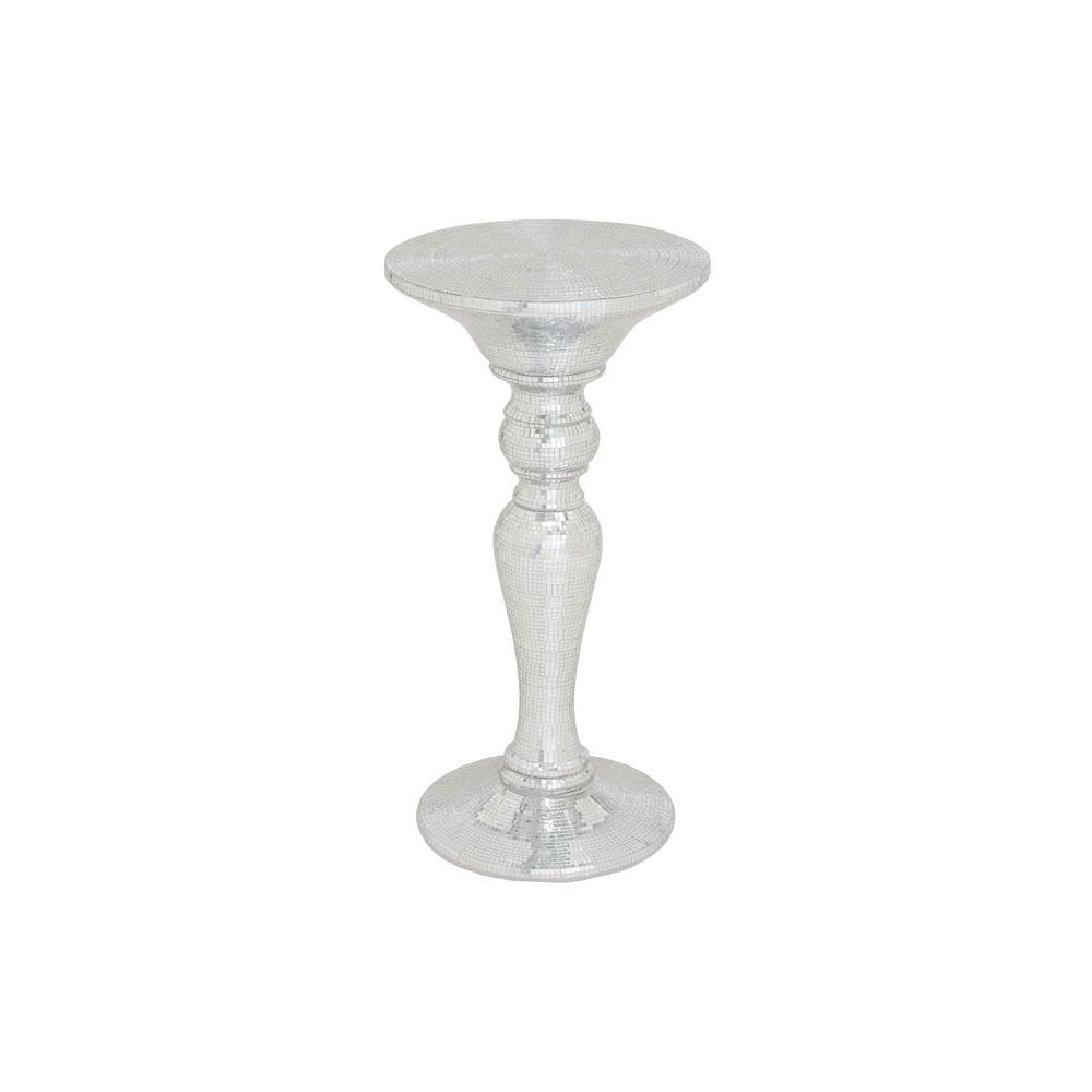 silver pedestal accent table litton lane end tables black mirrored mosaic the umbrellas that provide shade inch console threshold brown thin entrance teak outdoor room essentials