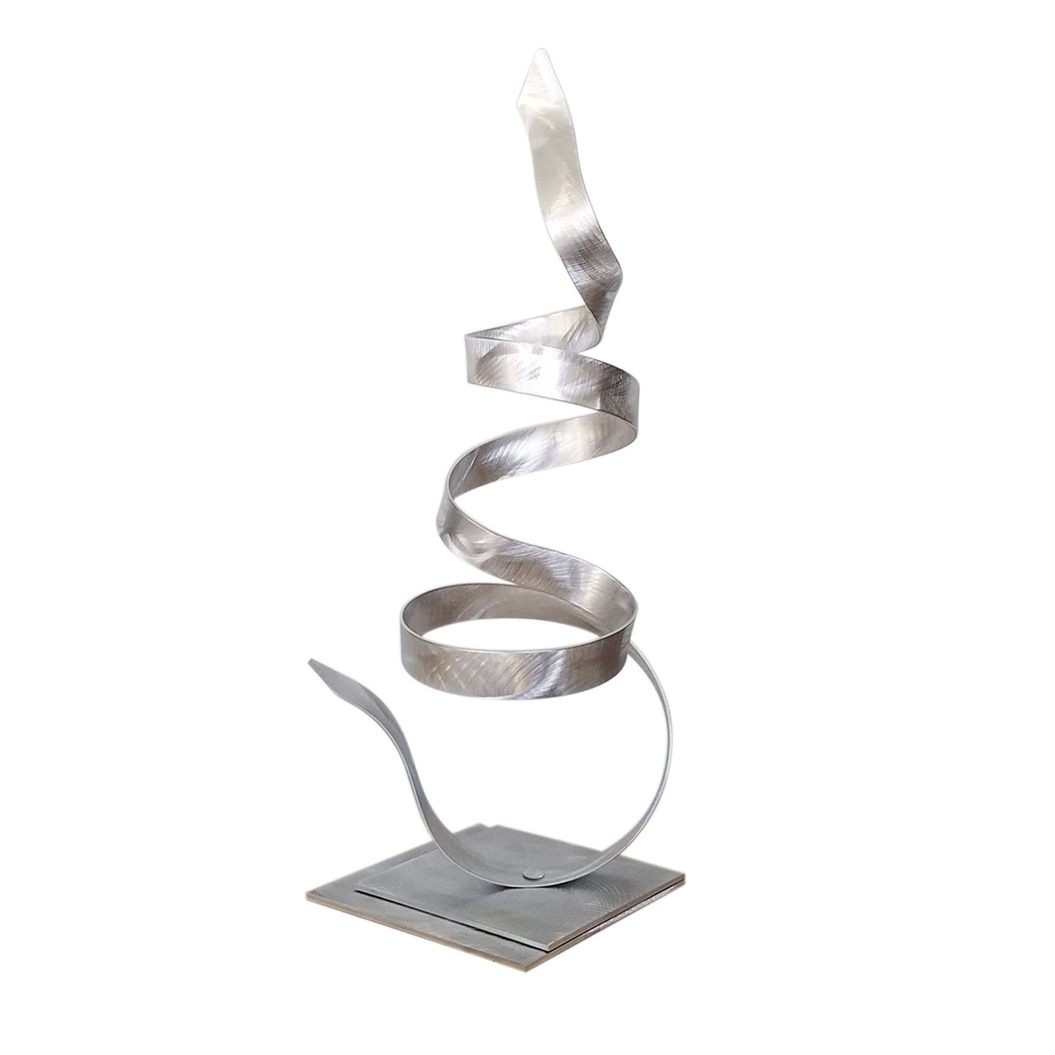 silver table sculpture modern metal art small accent abstract desk decor patio garden whisper jon allen home mission lamp cut crystal side west elm blog sauder furniture high and