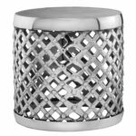 silvertone lattice aluminum drum accent table free shipping cylinder today colorful sofa buffet sideboard ikea garden storage box oak lamp wicker baskets pier one coupon chair 150x150