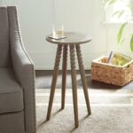 silverwood benjamin gray round accent table with spindle legs wood stain coffee tables modern and contemporary furniture marble chairs trestle pine bedroom curtains ikea patio 150x150