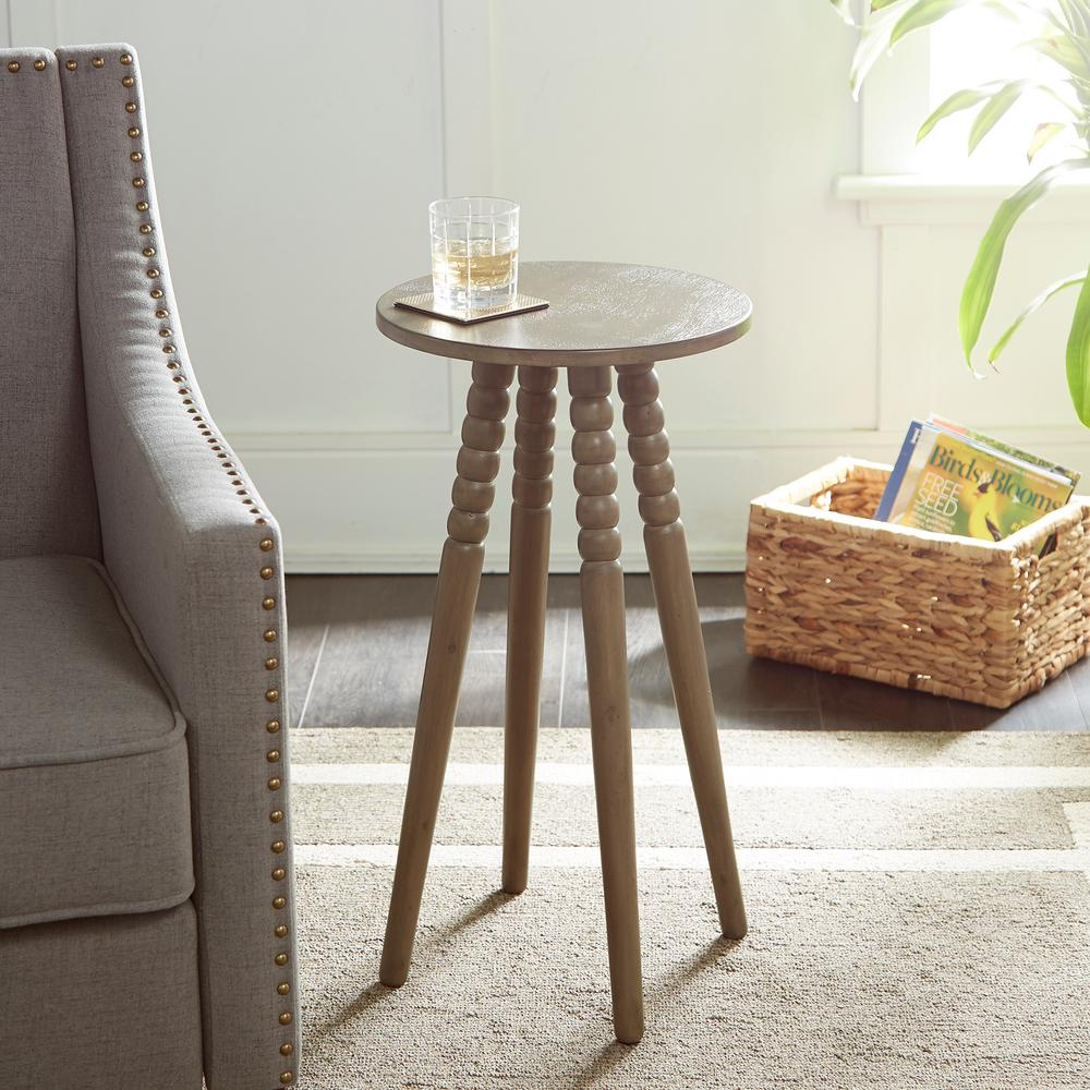 silverwood benjamin gray round accent table with spindle legs wood stain coffee tables modern and contemporary furniture marble chairs trestle pine bedroom curtains ikea patio