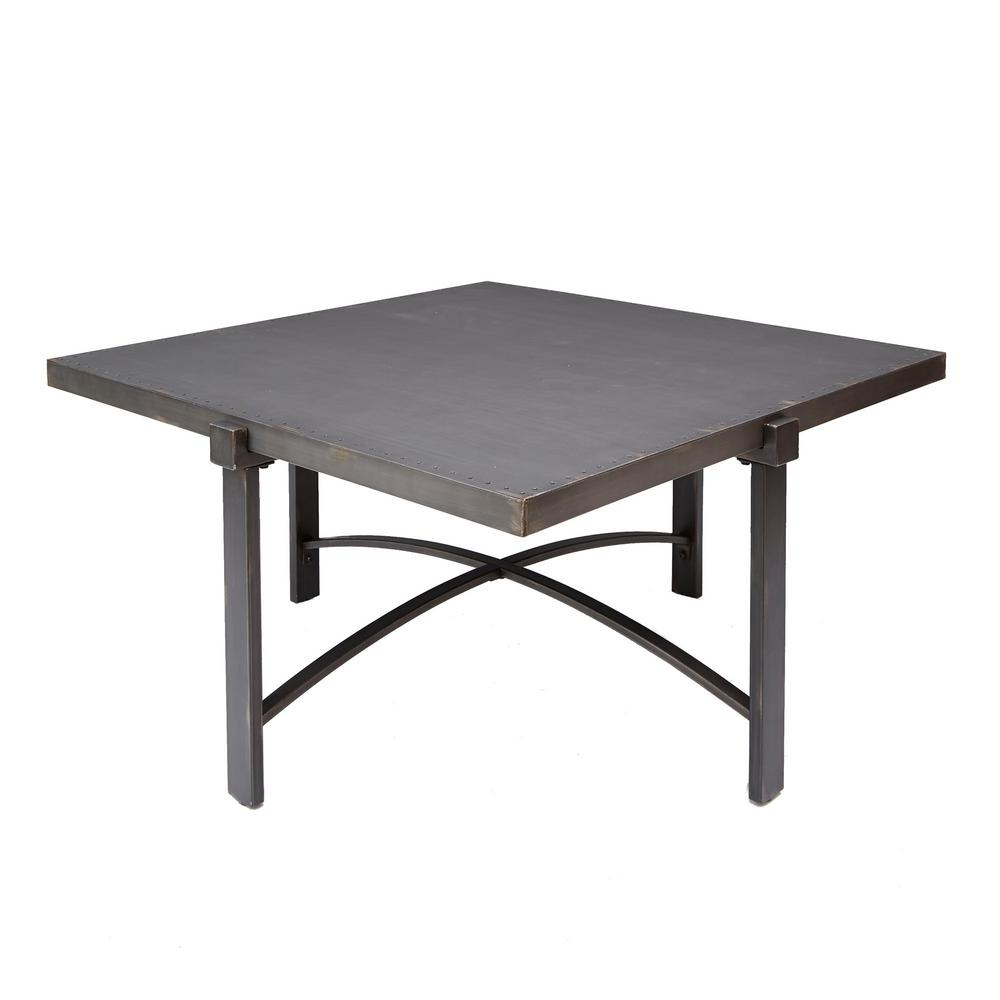 silverwood lewis bronze square metal top coffee table brown tables wood accent kirklands clocks small nautical lamps round trestle dining moroccan mosaic garden home goods sofa