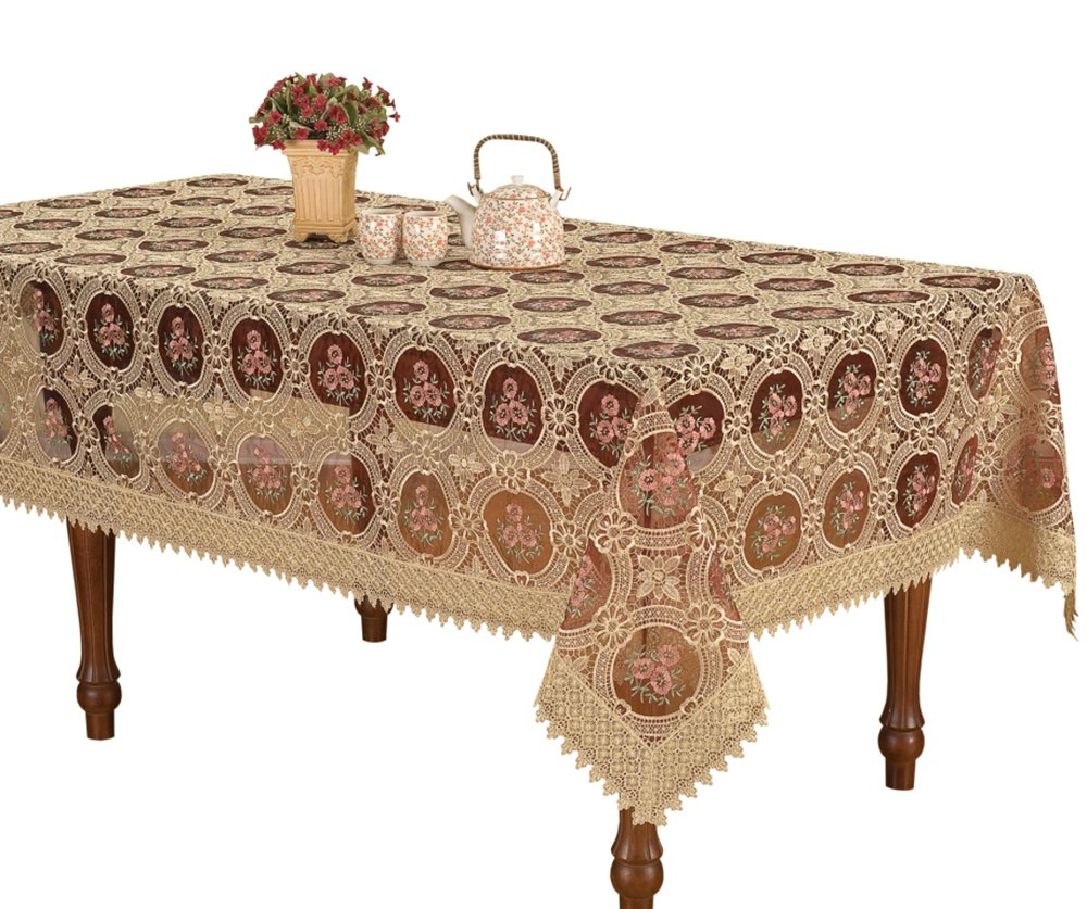 simhomsen vintage burgundy lace tablecloth embroidered round accent rectangle inch home kitchen west elm outdoor furniture mosaic tile bistro table and chairs coffee arcadia