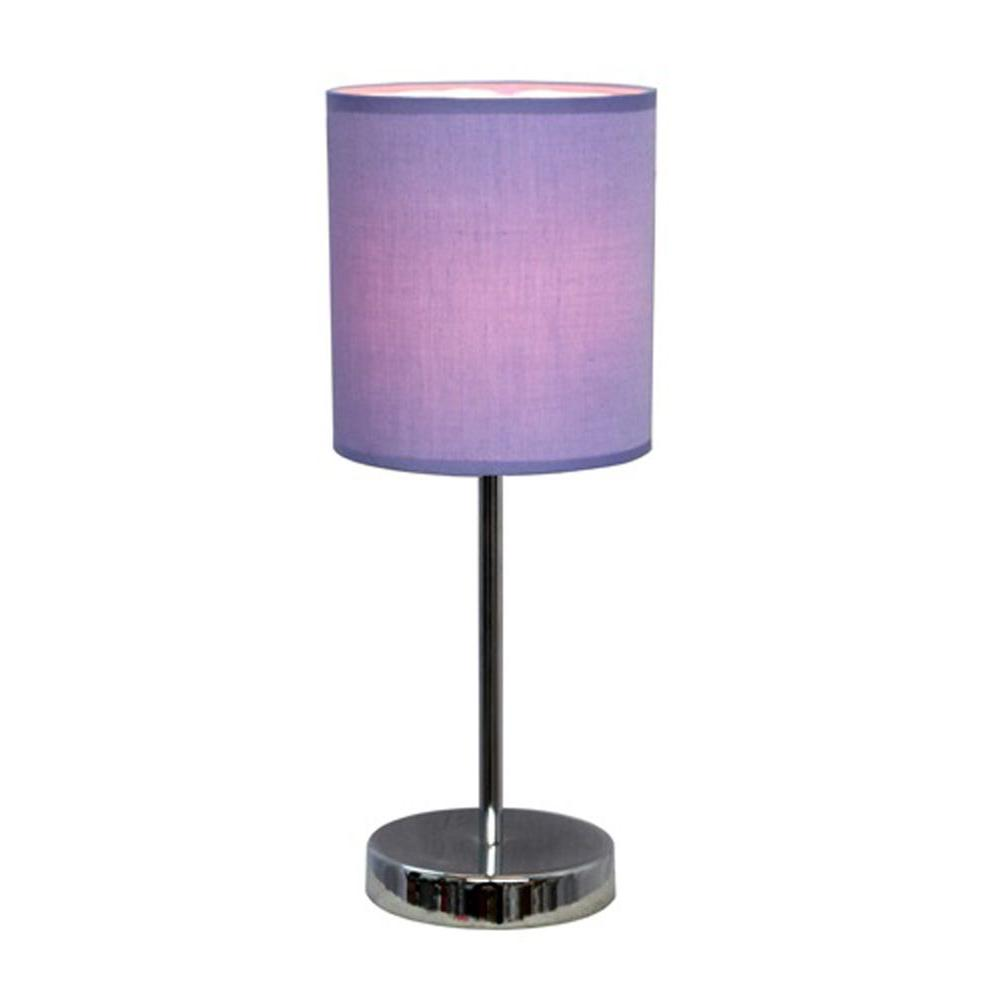 simple designs chrome mini basic table lamp with white purple lamps prp battery operated accent fabric shade garage cabinets west elm light bulbs off round coffee black dining set