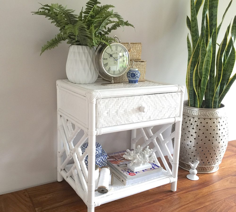 simple hampton storage bedside table country bedroom chunky solid white rattan with drawer humble home alton accent night design ideas nautical end tables cube bbq prep cart shoe